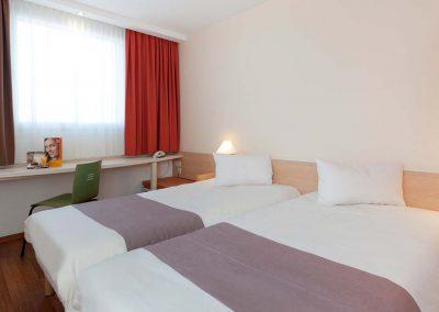 Standardzimmer twinbett ibis Hotel Berlin Dreilinden