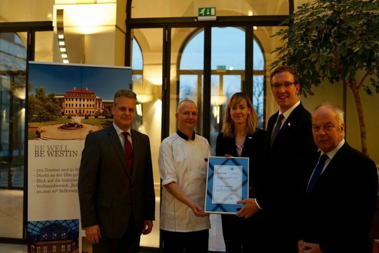 The Westin Bellevue Dresden erhält Zertifikat